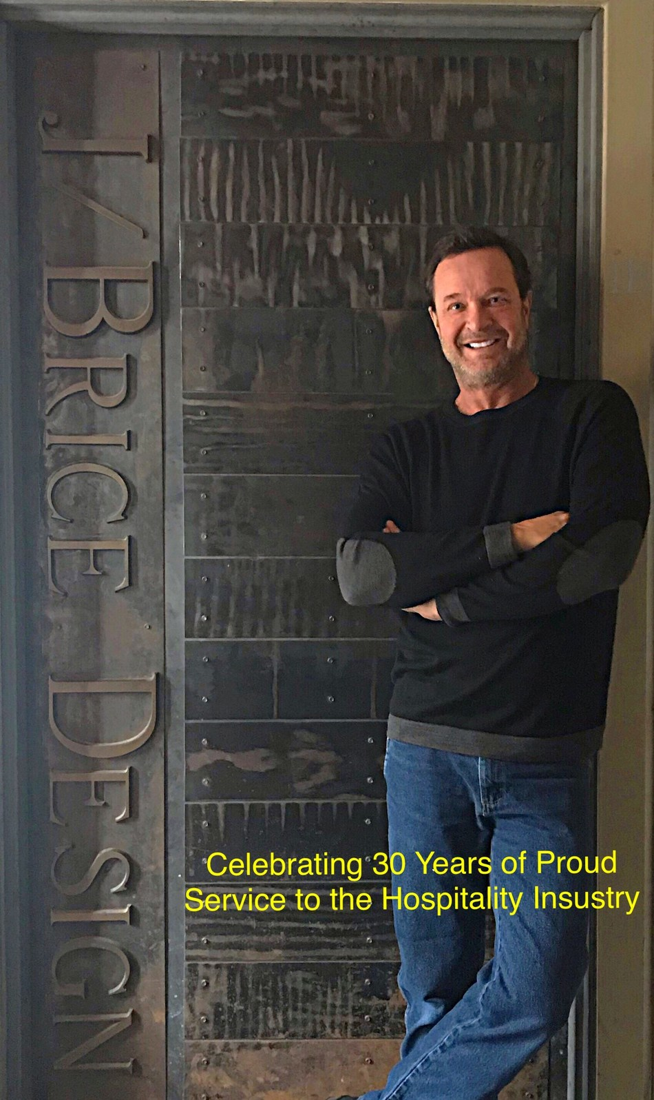 Jeffrey Brice Ornstein, founder and CEO of J/Brice Design International, celebrates the 30th anniversary of the hospitality design firm he founded in Boston in 1989. Since its founding, J/Brice Design has been widely heralded for its contribution to establishing the Arab world as a luxury destination.