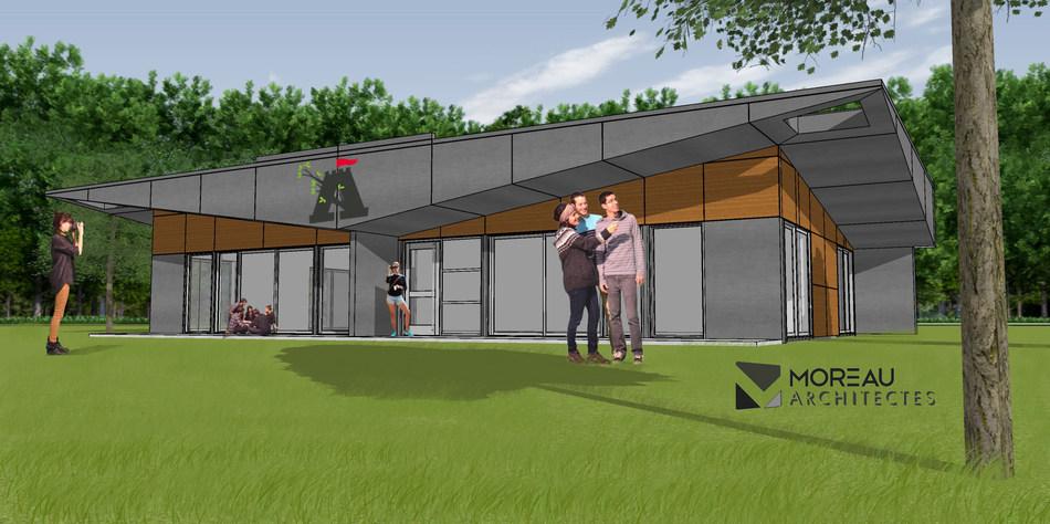 La future salle multifonctionnelle du Village Aventuria. (Groupe CNW/Cabinet de la ministre du Tourisme)