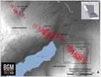 Modelled Vein Cirridor Zones (CNW Group/Barkerville Gold Mines Ltd.)