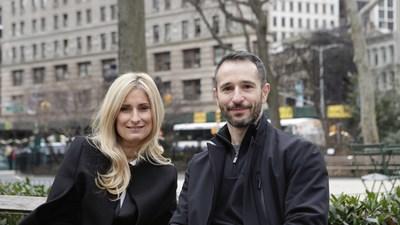 Anna Panczyk, CEO of Grey London (left); Adrian Rossi, Creative Chairman, Grey London (right)