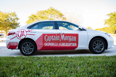 A fleet of specially wrapped Captain Morgan Lyft vehicles will take to the streets during the Gasparilla Pirate Festival.