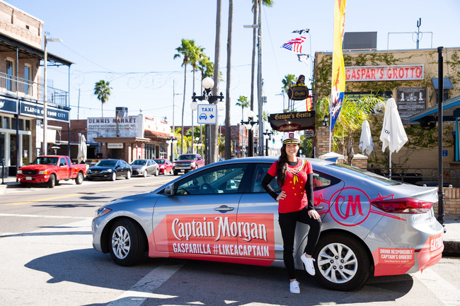 Captain Morgan pledges up to $20,000 in Lyft Ride Smart credits in the Tampa Bay area during the Gasparilla Festival.