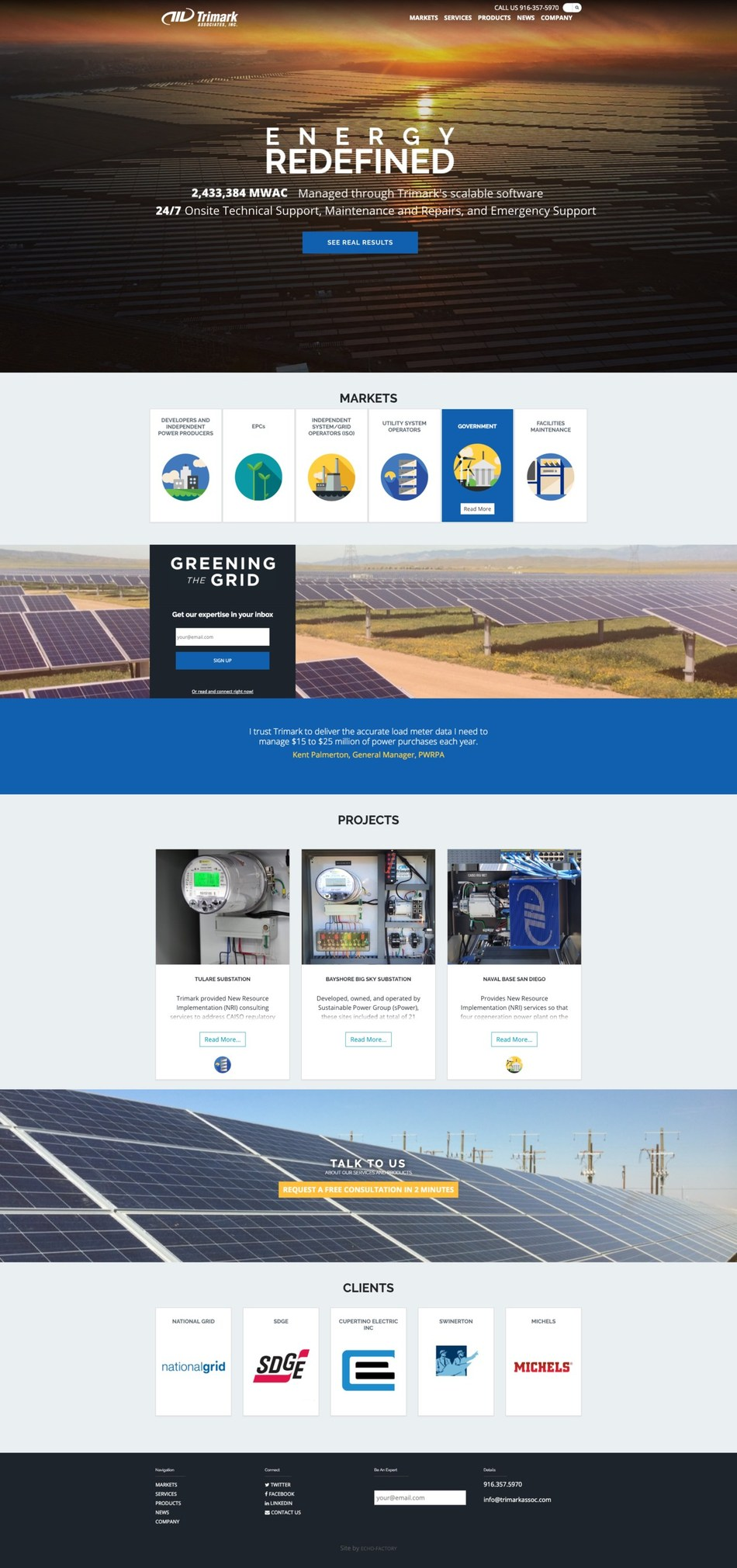 Trimark launches new website showcasing energy management solutions for utility-scale PV power producers