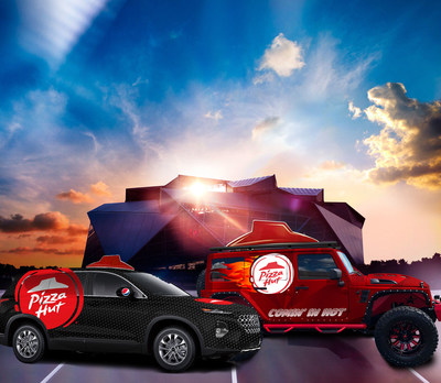 Ahead of gameday, Pizza Hut unveiled a limited-edition Super Bowl LIII fleet of pizza delivery vehicles, which will be overdelivering all week long with unbeatable surprises for fans.