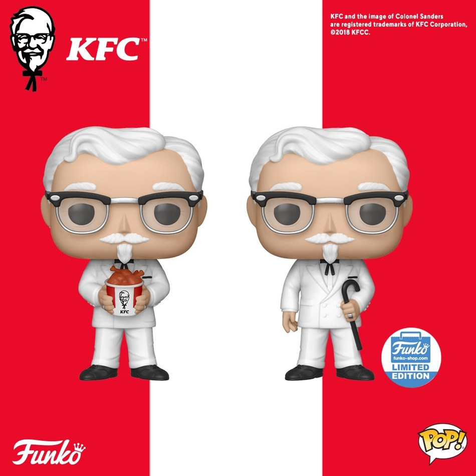 KFC has partnered with worldwide pop culture collectibles company Funko on a limited-edition Colonel Sanders Pop! vinyl figures line.