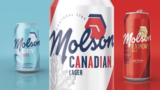The Molson Masterbrand, revealed January 2019 (CNW Group/Molson Coors Canada)