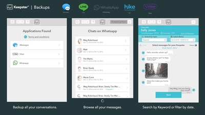 Keepster works across these major messaging platforms - iMessage, SMS, Whatsapp, Hike, Line and Viber - keeping your messages organized all in one convenient place