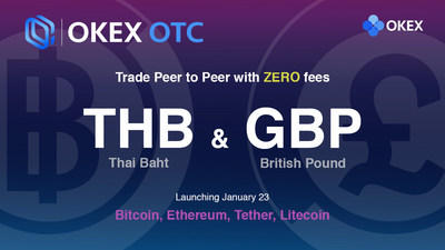 OKEx Launches Thai Baht (THB) and British Pound (GBP) OTC Trading