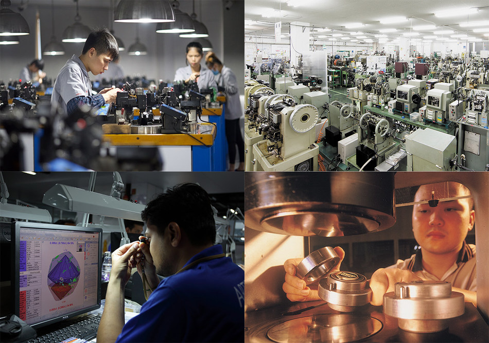 The Recipients of JNA Awards 2018 demonstrated innovation and excellence Photo credit: (clockwise from left) Chow Tai Fook Jewellery Group Ltd, Kuwayama Corporation, Poh Kong Jewellers, KGK Diajewels Private Limited