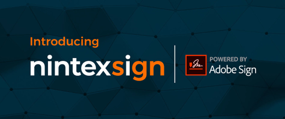 Nintex today announced a strategic partnership with Adobe to bring new native electronic signature capabilities, called Nintex Sign™ powered by Adobe Sign, to Nintex partners and customers. (PRNewsfoto/Nintex)