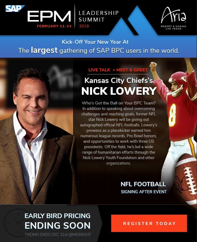 EPM Leadership Summit presents Nick Lowery