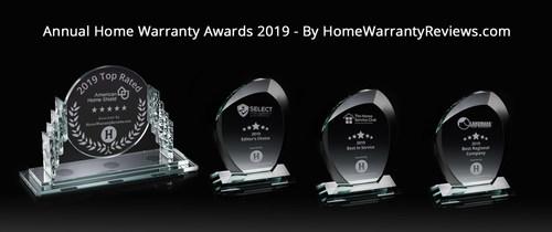 Winners of Annual Home Warranty Awards by HomeWarrantyReviews.com