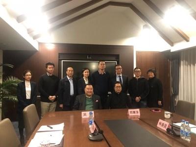 Front row: Dr. Bruno Wu (left) & Zheng Kangchun, CEO, Beijing Central Finova (right)