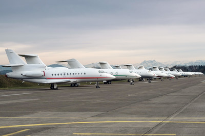 VIP aircraft at Jet Aviation's FBO in Zurich, Switzerland, during the World Economic Forum meeting in Davos.