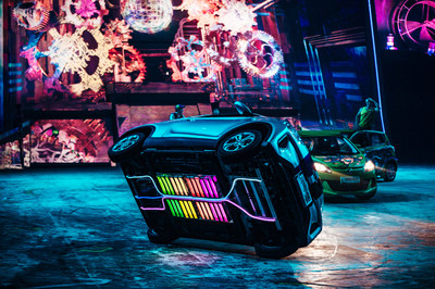 Elekron performs with all-electric sports cars, customized buggies, quads, trials bikes and FMX bikes wowed the crowd with a succession of high-octane feats and daredevil jumps performed at super-close range to the audience, while fireworks and pyrotechnics provided added flashes of excitement throughout.