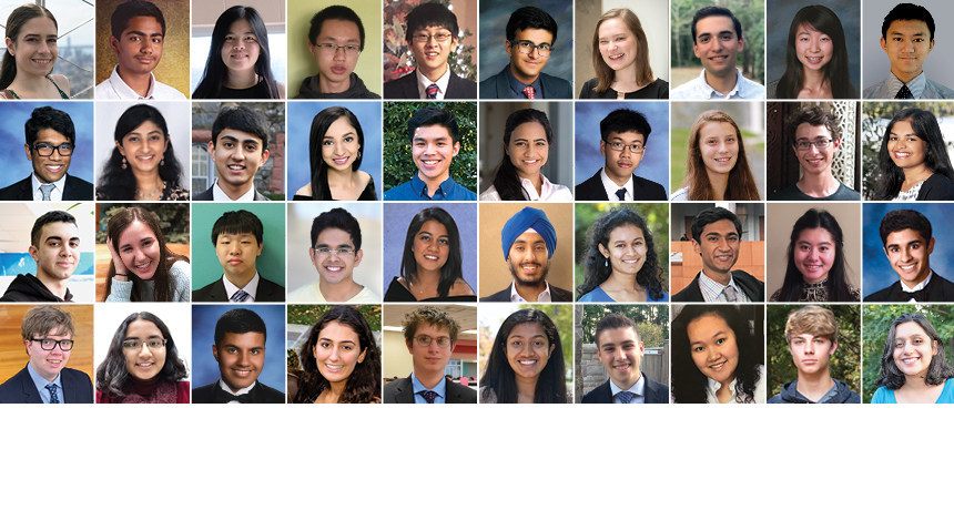 Regeneron Science Talent Search 2019 Finalists