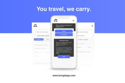 """""""You Travel, We Carry"""": Bringit allows travelers to get to or from the airport  without their heavy luggage slowing them down. The on-demand service launches in Miami International Airport today,  followed by New York City in Mid-February and 10 more cities by 2021"""