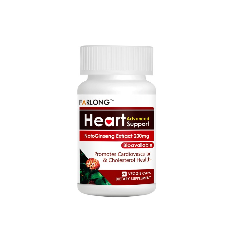 Farlong, which develops science-based condition-specific botanical supplements that mix ancient remedies with modern technology, formulated Heart Advanced Support with NotoGinseng Extract specifically for your heart.