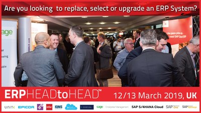 Compare 12 leading ERP products at the 4th UK Lumenia ERP HEADtoHEAD™ event