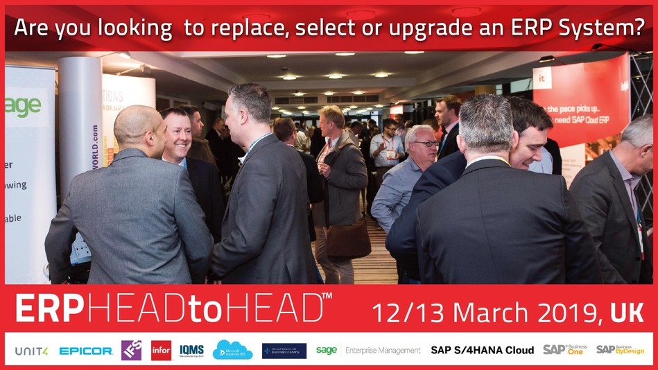 Compare 12 leading ERP products at the 4th UK Lumenia ERP HEADtoHEAD™ event (PRNewsfoto/Lumenia Consulting)