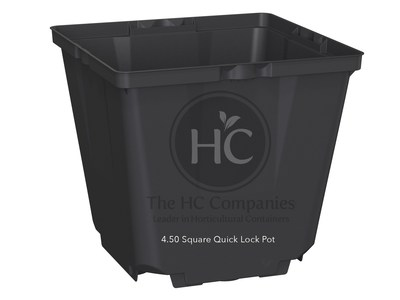 "4.5"" Square Quick Lock Pot - The HC Companies"