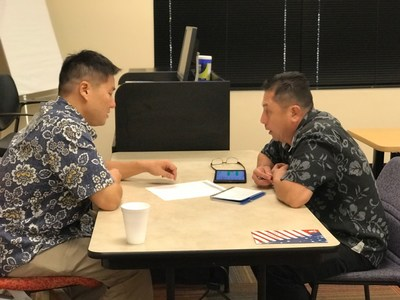 Warriors receive face-to-face job interview skills training during Wounded Warrior Project career counseling program
