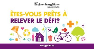Le Défi Régime énergétique en classe (Groupe CNW/Société géographique royale du Canada)