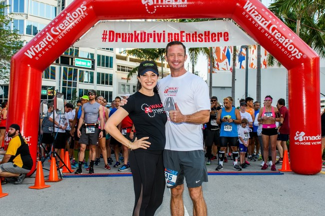 E. Matthew 'Whiz' Buckley and Heather Geronemus at Walk Like MADD & MADD Dash Fort Lauderdale 5K
