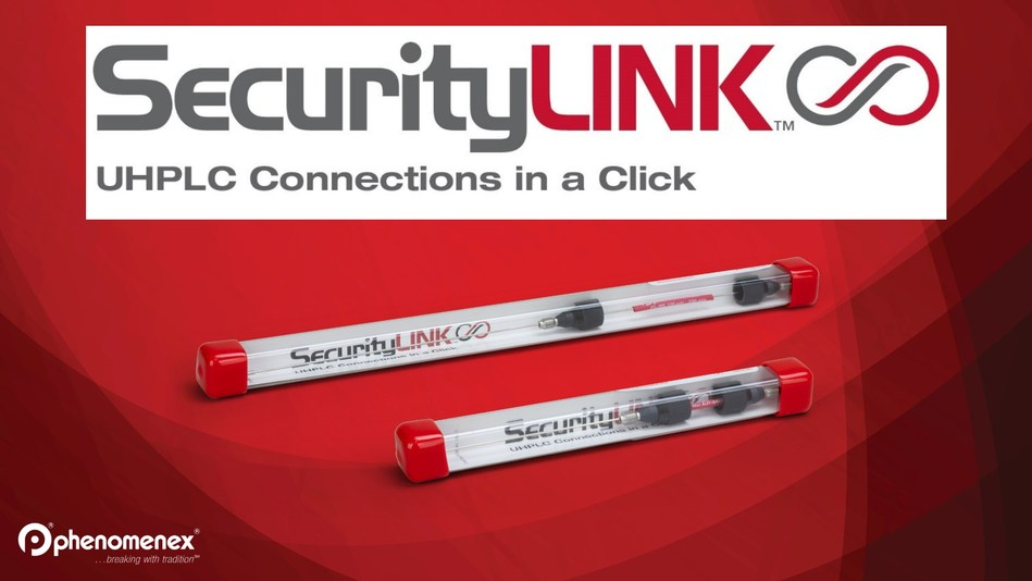 Introducing SecurityLINK™ UHPLC fitting system that simplifies your system and column connections and provides consistent performance with torque limiting technology that prevents column damaging from over tightening. SecurityLink doesn't require any tools to achieve quick and easy installation and the fitting self-adjusts at column inlet to ensure zero dead-volume for better chromatographic results.