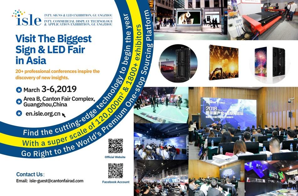 A Feira Internacional de Painéis e LED de 2019 realizará 20 conferências para promover o desenvolvimento industrial (PRNewsfoto/International Signs and LED Exh)