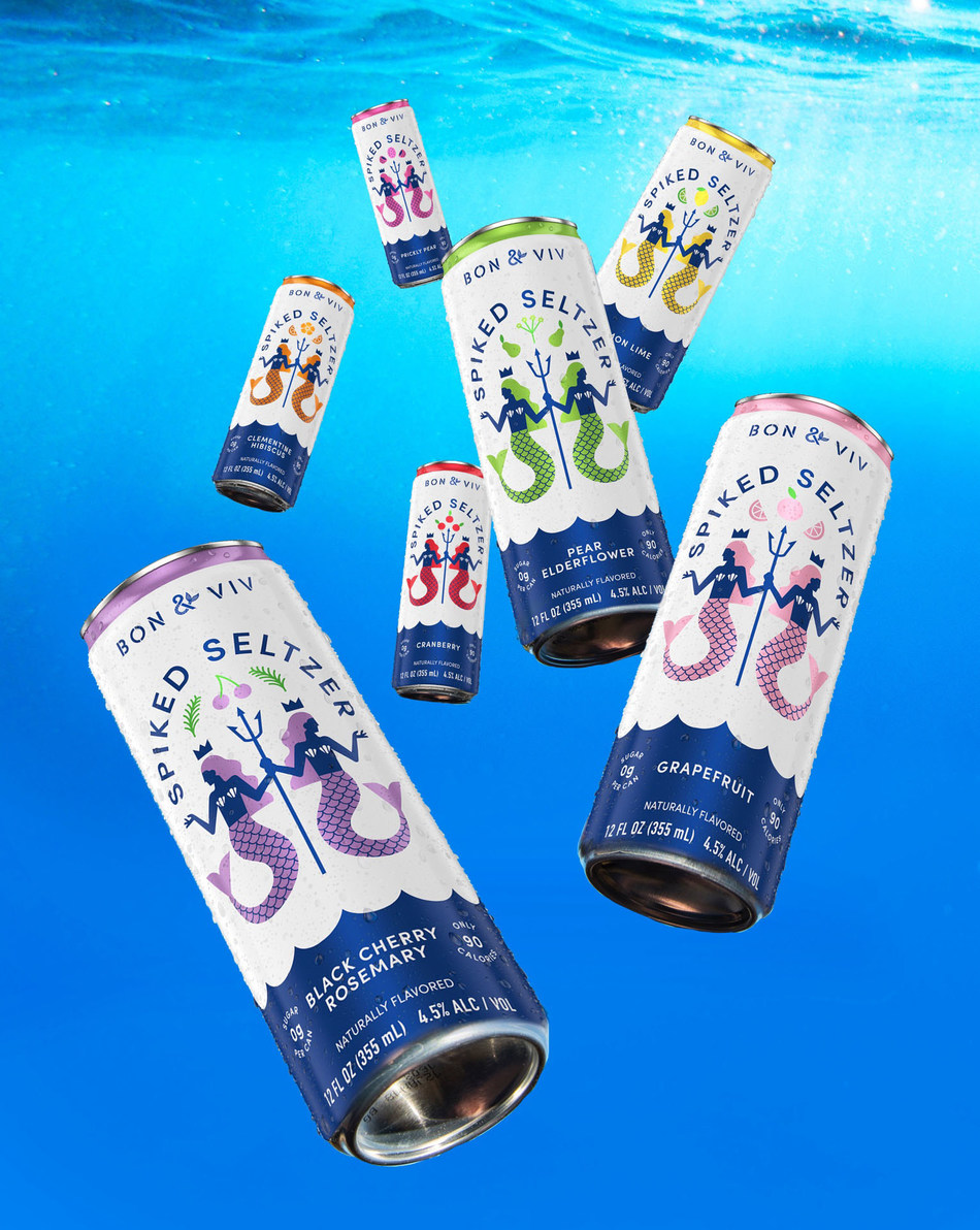 New BON & VIV Spiked Seltzer features a perfect balance of flavor and refreshment with 0g of sugar, only 90 calories and seven flavors including bold botanicals.