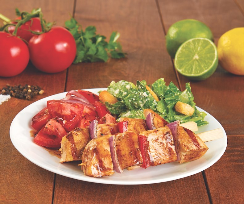 The Pollo Tropical® Chicken Pinchos Platter is now available with the brand's new Original or Spicy BBQ Chicken Pincho.