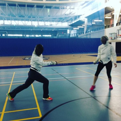 You wouldn't know it, but fencing is an excellent cardio workout. (CNW Group/Rachel Richards)