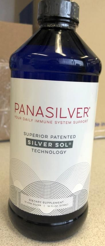 Panasilver bottle (CNW Group/Health Canada)