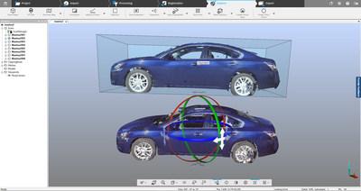 Transforme nuvens de pontos em modelos 3D - Exporte nuvens de pontos em malha do SCENE para o FARO Zone 3D ou pacotes de software de outros fabricantes.