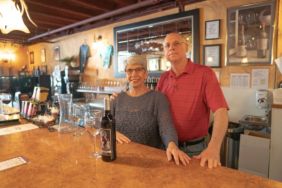Charlene and Ross Meriwether, owners of The Wild Women Winery