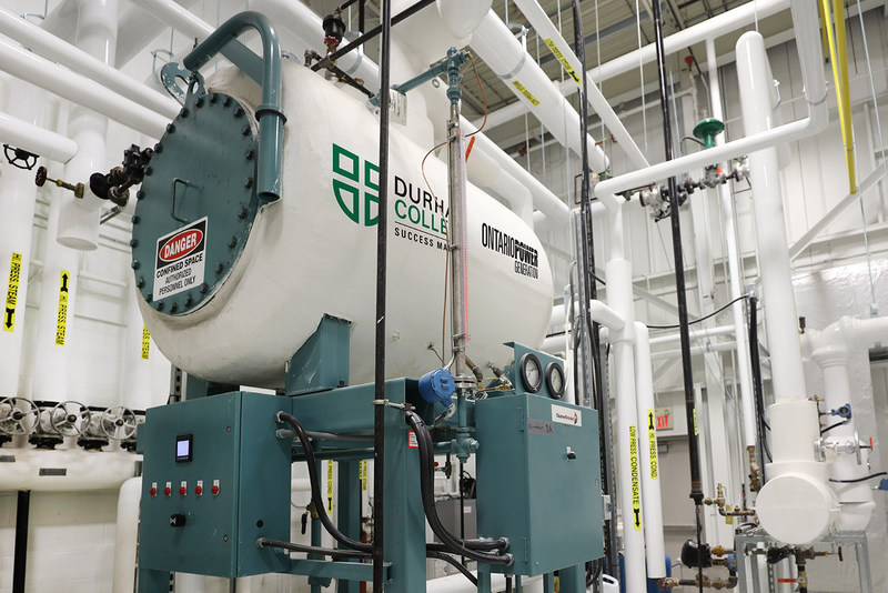 Durham College and OPG celebrate the completion of the college's first-ever Boiler Lab (CNW Group/Ontario Power Generation Inc.)