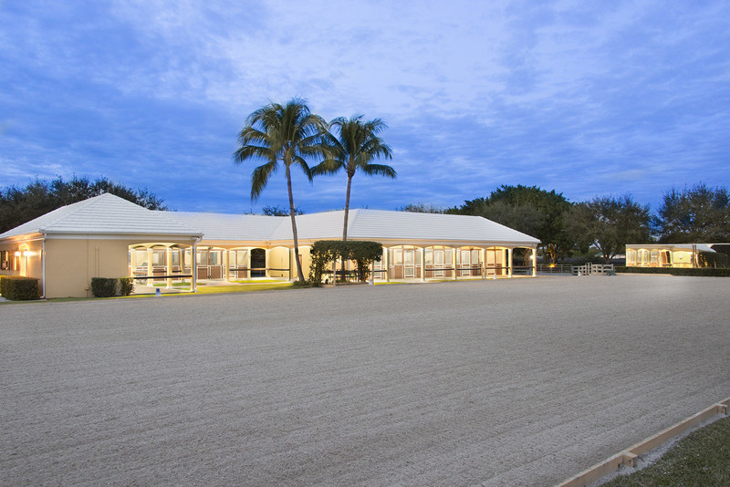 The estate offers a 20-meter by 60-meter, mirrored riding area, which is ideal for dressage training. A larger arena can also be constructed on the property if needed. More at WellingtonLuxuryAuction.com.