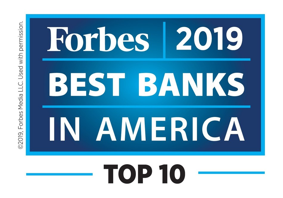 Forbes 2019 Best Banks in America Top 10
