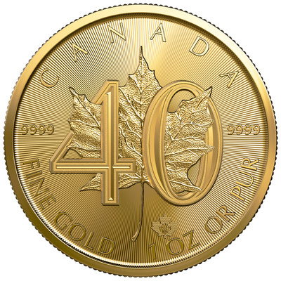 The Royal Canadian Mint celebrates 40 years of leadership and innovation with anniversary edition of its world-famous Gold Maple Leaf bullion coin