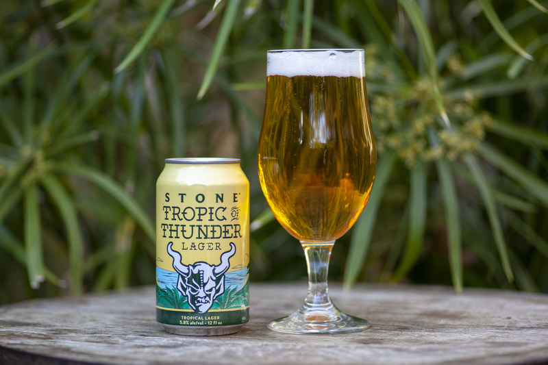 Stone Tropic of Thunder Lager, a lager for IPA lovers
