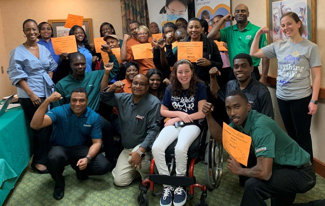 Sailormen, Inc/Popeyes managers, MDA staff, and MDA's Appetite for a Cure ambassador, Isabel, kick-off the 15th Annual Appetite for a Cure campaign in South Florida.