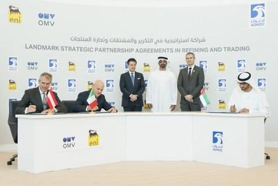 ADNOC与埃尼和OMV签署炼油与贸易方面的里程碑式战略合作协议