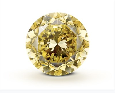 Mouawad Crafted From the Rough 54.21 Carat 'Mouawad Dragon' Diamond - the Largest Round Brilliant Vivid Yellow Diamond in the World