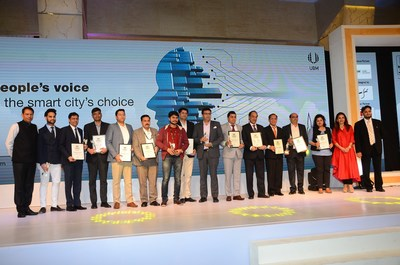 The brands which were felicitated as India's Most Preferred Smart City Brands 2018 (PRNewsfoto/UBM India Pvt. Ltd.)