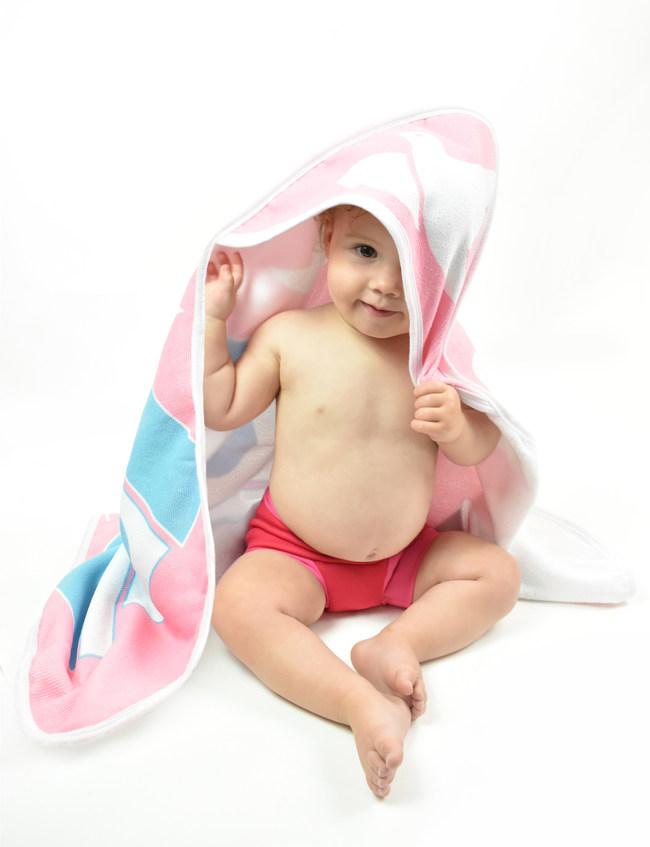 Splash About Nina' Ark design hooded towel