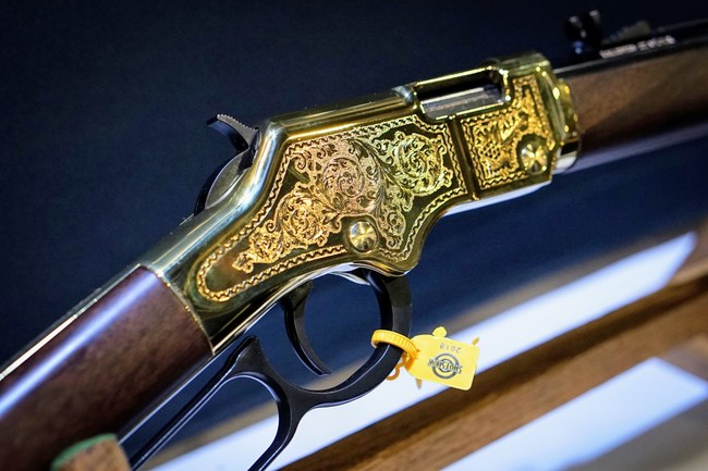 The first offering in the Cody Firearms Museum Collectors Series is a Henry Golden Boy engraved with a design inspired by an 1860's era Henry rifle in the museum's collection.