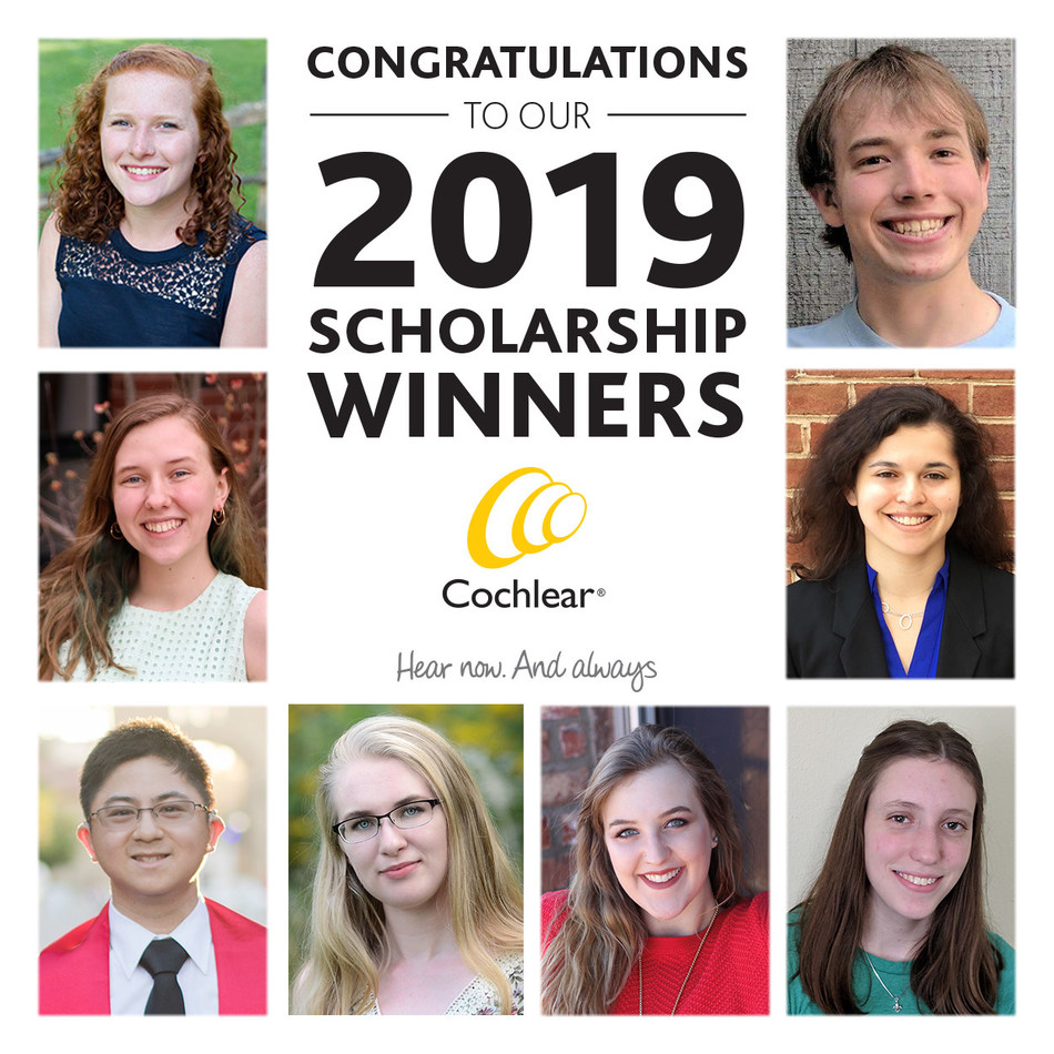 Cochlear recognizes eight young adults who have received the 17th annual Graeme Clark and the eighth annual Anders Tjellström Scholarships. The scholarships, named after two pioneers of the hearing implant industry, recognize Nucleus Implant and Baha System recipients in the United States and Canada who uphold the Cochlear ideals of leadership and humanity while demonstrating high academic achievement.