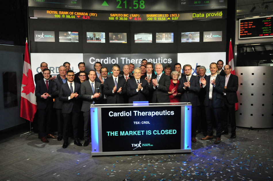 Cardiol Therapeutics Inc. Closes the Market (CNW Group/TMX Group Limited)