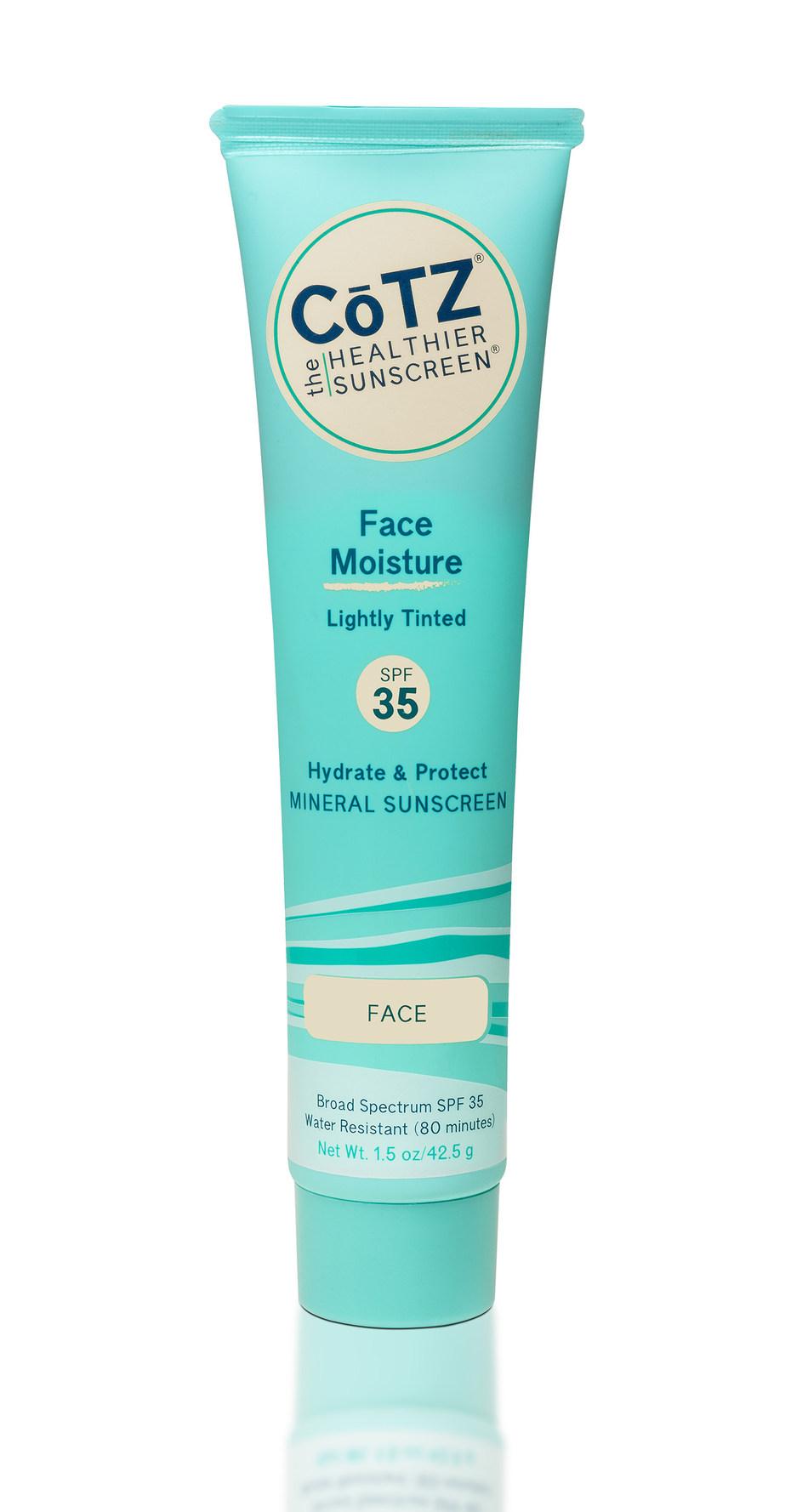 CŌTZ® The Healthier Sunscreen Launches Face Moisture SPF 35